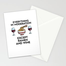 Lustiger Ramen Weinalkohol Spruch Stationery Cards