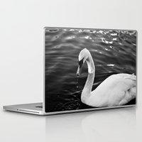 black swan Laptop & iPad Skins featuring Swan by Ana Pontes