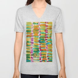 3   | 191128 | Abstract Watercolor Pattern Painting Unisex V-Neck