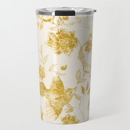 Oriental birds gold Travel Mug