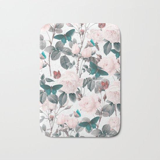 ROSES AND BUTTERFLIES Bath Mat