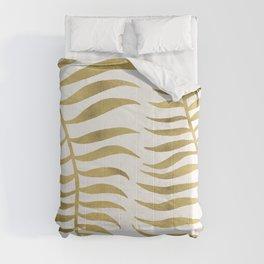 Golden Palm Leaf Comforters
