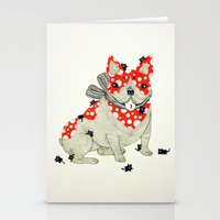 frenchie Stationery Cards featuring Frenchie. by ruffgaws