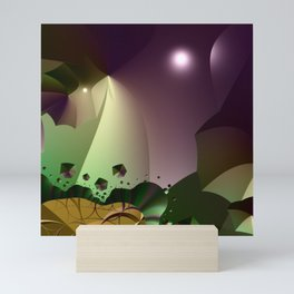 Magic of the abstract night Mini Art Print