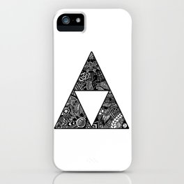 Triforce Zentangle iPhone Case