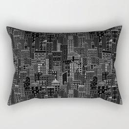 City Doodle (night) Rectangular Pillow