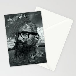 Eco Hipster Black and White Stationery Cards