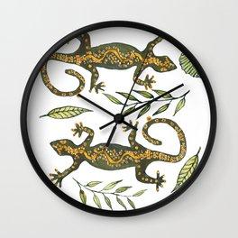 Lady Gecko Wall Clock