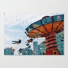 Navy Pier Swings Canvas Print