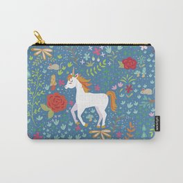 Colorful Unicorn Pattern Carry-All Pouch