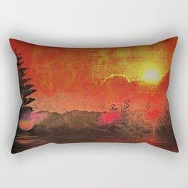 Oriental Landscape Rectangular Pillow