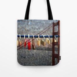 LOVE LOCKED - GOLDEN GATE BRIDGE Tote Bag