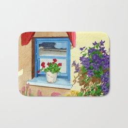 provencal_blue_window Bath Mat