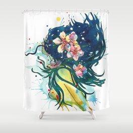 Beach Goddess Shower Curtain