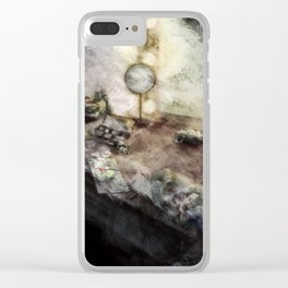 The dressing room of a Model Clear iPhone Case