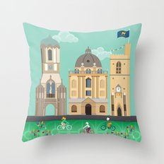 Oxford In Spring Throw Pillow