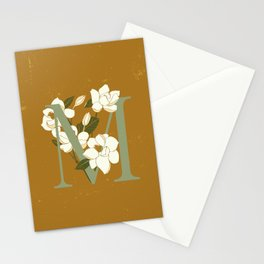 Letter M for Magnolia Stationery Cards