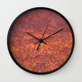 Percolated Sunset in Warm Tones Wall Clock