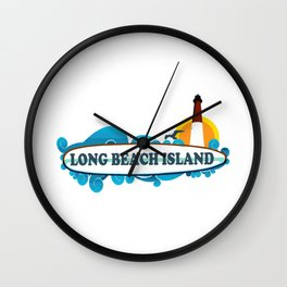 Long Beach Island - New Jersey. Wall Clock