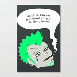 teardrop johnny Canvas Print