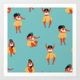 Hula dancers Art Print