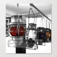 lanterns Canvas Prints featuring Lanterns by Raymond Earley