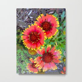 Gerber daisies - pop art nature photography print Metal Print