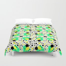 Bubbly pattern with leaves Duvet Cover