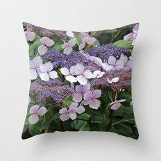 Hydrangea Violet Hues Throw Pillow