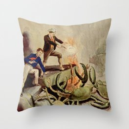 Giant crabs attack Throw Pillow