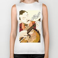 django Biker Tanks featuring Django Reinhardt by Daniella Birtley