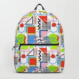 Circle Square Triangle Backpack