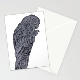 Nibbling Black Cockatoo Stationery Cards