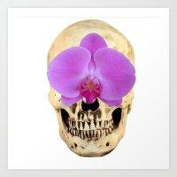 Orchid of skull Art Print