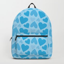Blue Hearts Pattern Backpack