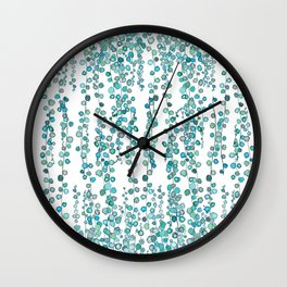 string of pearl watercolor Wall Clock