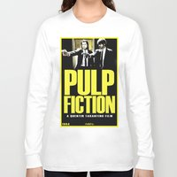 pulp Long Sleeve T-shirts featuring PULP FICTION by Rikartdo