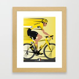 France Yellow Jersey Framed Art Print