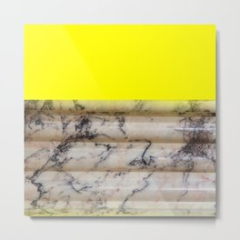 Greek Yellow Marble Metal Print