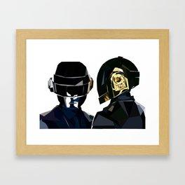Daft Punk Poly Study Framed Art Print