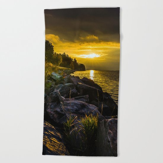 Morning Gold II Beach Towel