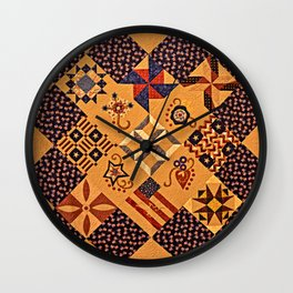 Quilting Of The Flag Wall Clock