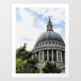 St. Paul's Cathedral Dome, London Art Print