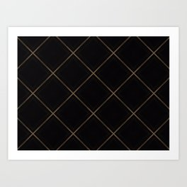 Cross Hatch Pattern Art Print