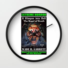 """""""The Angel of Death"""" book cover art with signature Wall Clock"""