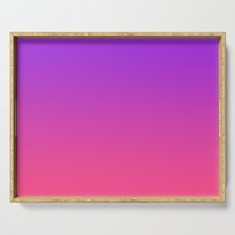 Bright Neon Ultra Violet Pink Gradient Pattern Serving Tray