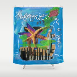 MEMORIES IN A JAR  by Seattle Artist Mary Klump Shower Curtain