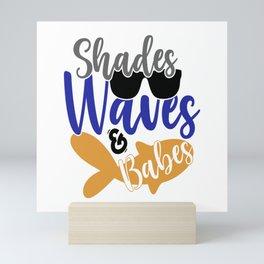 Shades Waves and Babes Mini Art Print