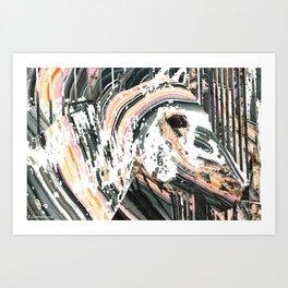 Modern Horse Art by Sharon Cummings Art Print