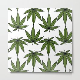 Pot Leaves Metal Print